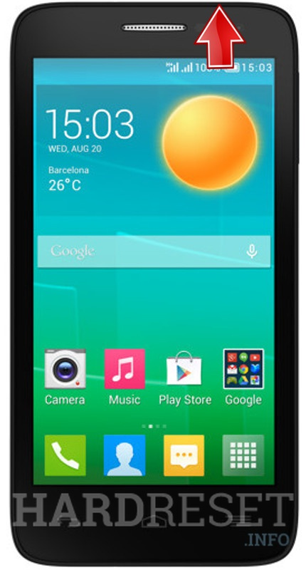 Hard Reset ALCATEL ONE TOUCH POP D5