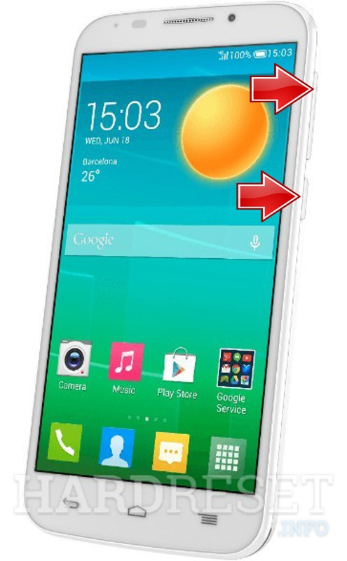 HardReset ALCATEL ONE TOUCH POP S7
