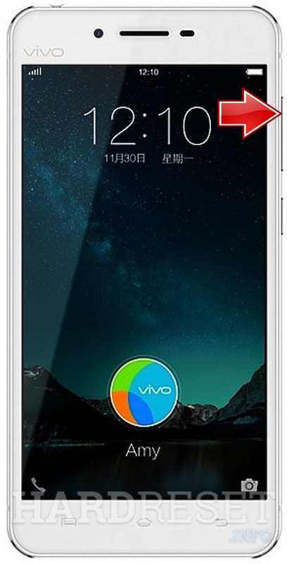 Factory Reset VIVO X6S Plus