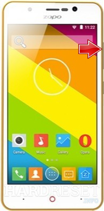 Remove Screen Lock ZOPO Color E ZP350