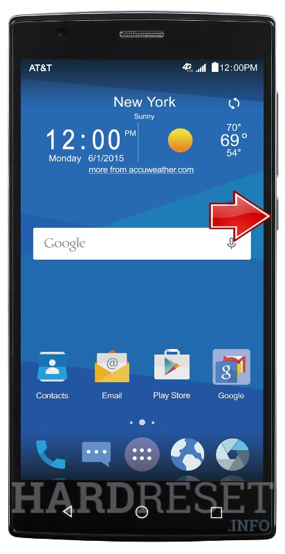 way how to factory reset zte zmax the Android