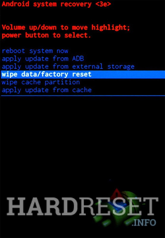 Wipe data ZTE Small Fresh 4 BV0701