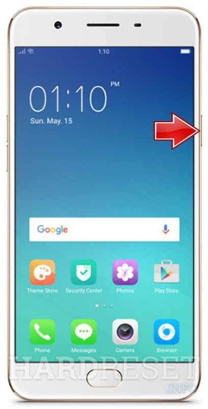 Hard Reset OPPO F1s A1601