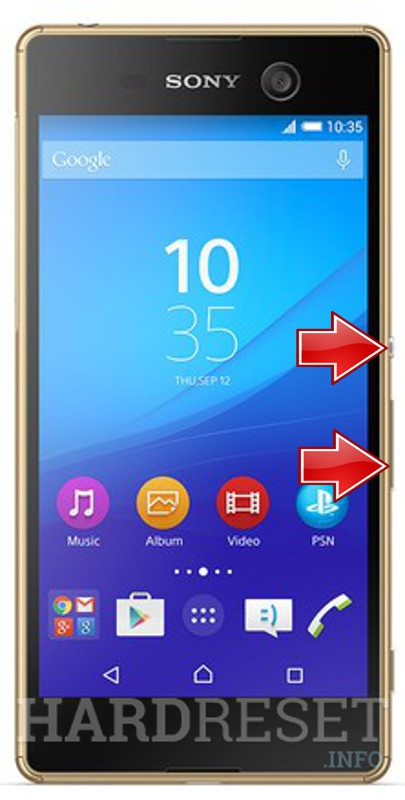 Remove screen password on SONY Xperia M5 E5603