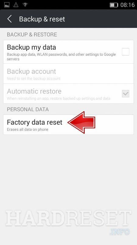 Permanently delete data from myPhone X PRO