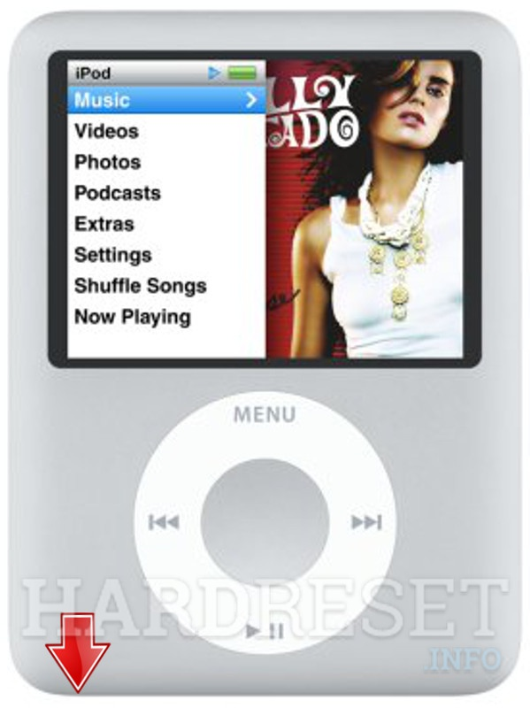 HardReset APPLE iPod Nano 3rd Generation