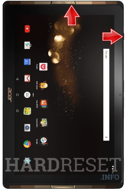 HardReset ACER A3-A40 Iconia Tab 10