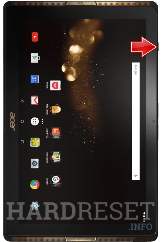 Hard Reset ACER A3-A40 Iconia Tab 10