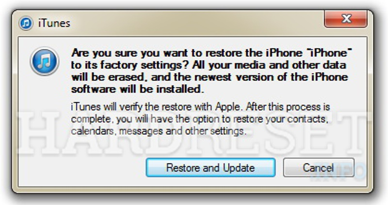 Remove screen password on APPLE iPod Classic 7th Generation