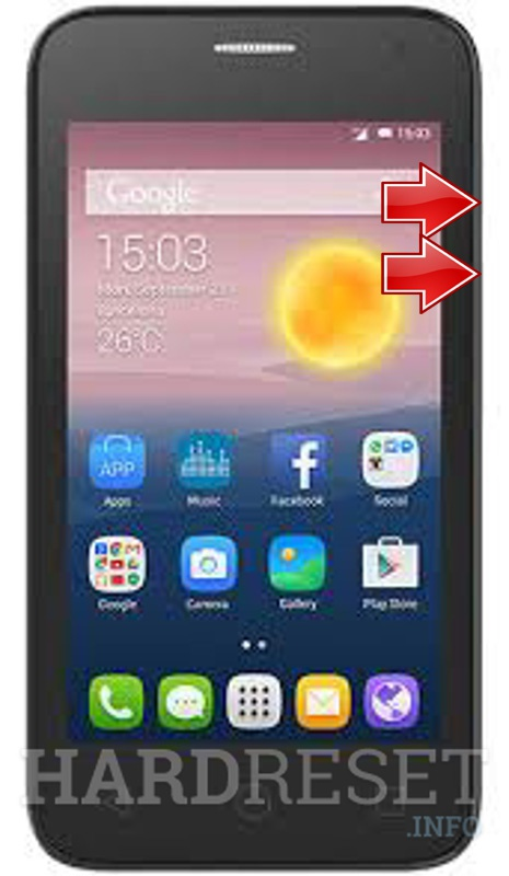 HardReset ALCATEL One Touch Pixi First 4024D