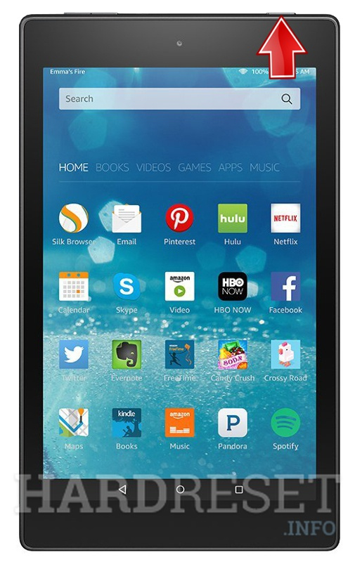 Recovery Mode AMAZON Fire HD 8 - HardReset info