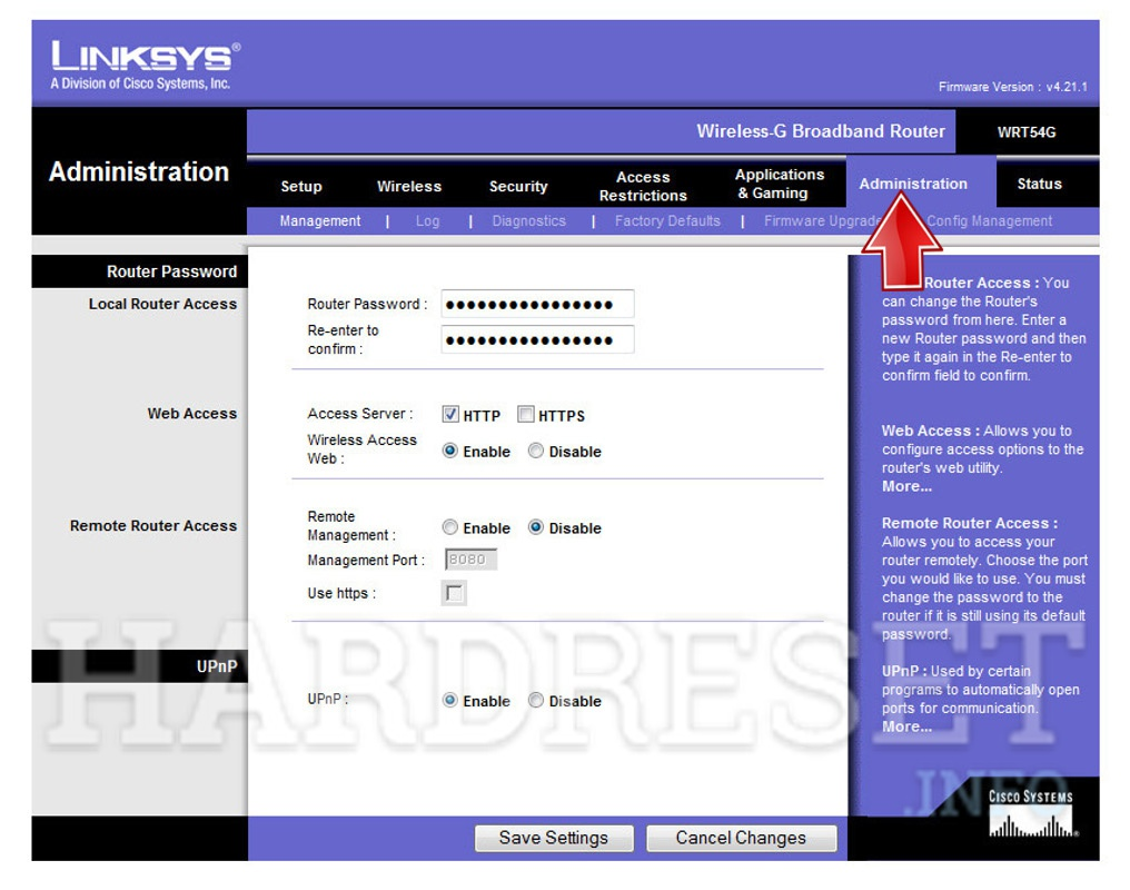 Hard Reset LINKSYS Router