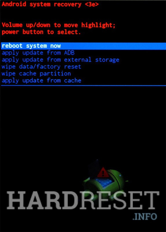 Factory Reset VERTEX Impress Brainstorm