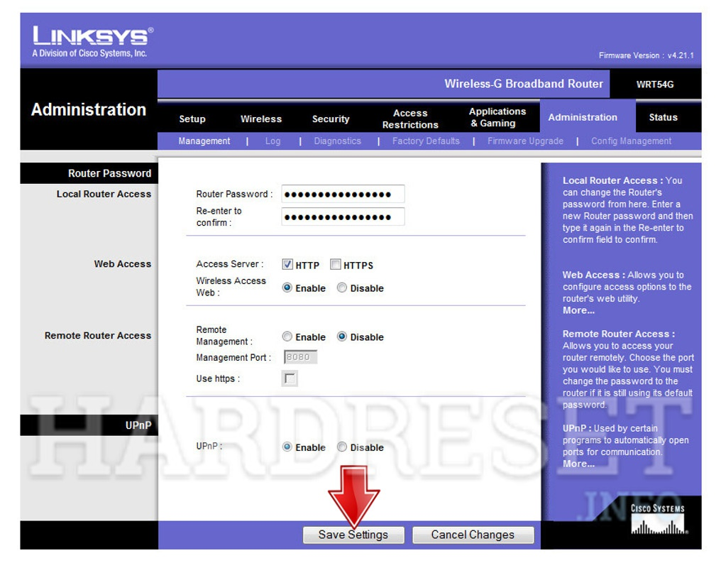 Factory Reset LINKSYS Router