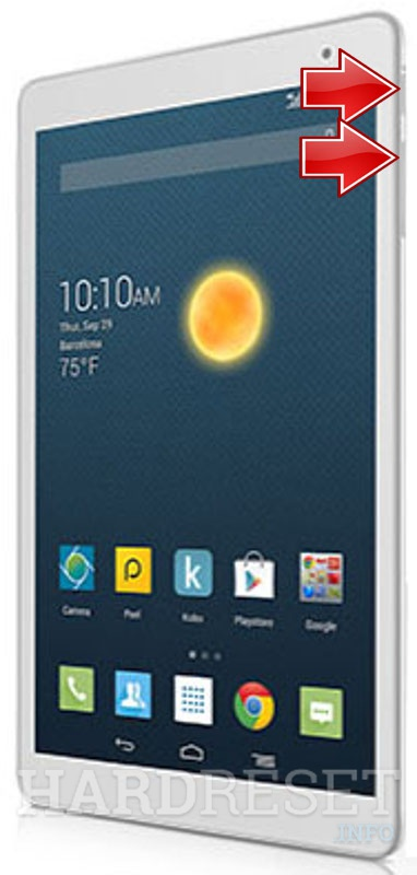 HardReset ALCATEL One Touch Pop 10 EMEA LTE