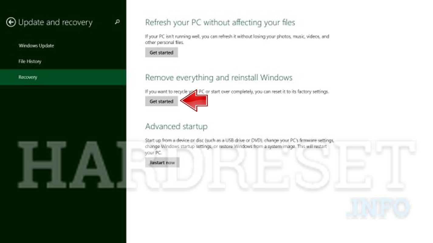 Wipe data on ACER SA5-271-3475 Switch Alpha 12