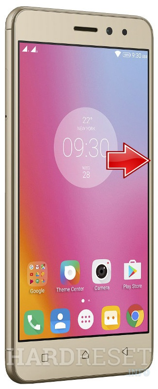 Hard Reset LENOVO K6 Power