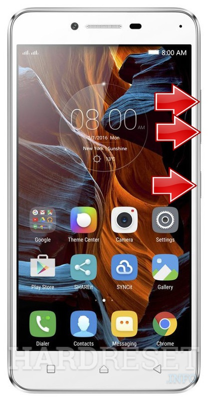 Remove screen password on LENOVO Vibe K5