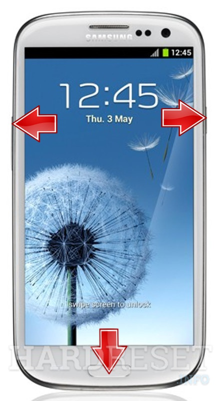 HardReset SAMSUNG T999L Galaxy S III (T-Mobile)