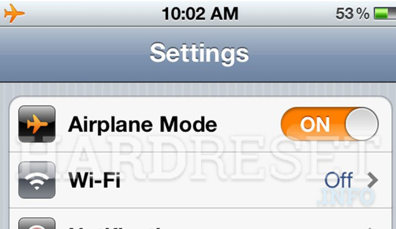 Airplane Mode iPhone
