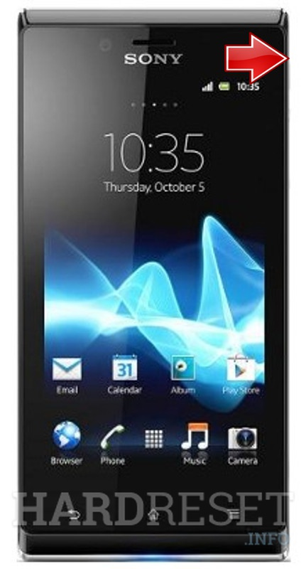 Hard Reset SONY ST26a Xperia J