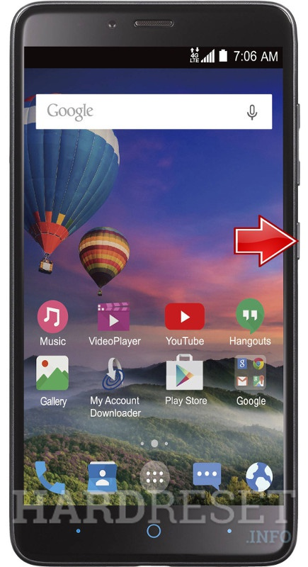 Recovery Mode ZTE Max Duo LTE Z962BL - HardReset info