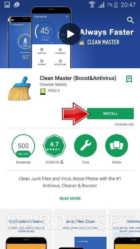 Tải và cài đặt Clean Master cho Motorola Edge Plus