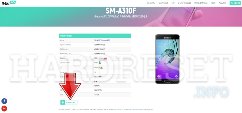 imei.info Samsung Download Firmware