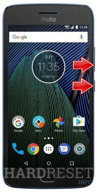 Wipe data on LENOVO Moto G5