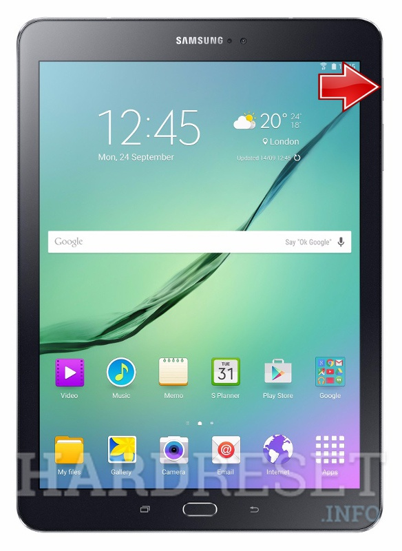 Remove screen password on SAMSUNG T817T Galaxy Tab S2 9.7 LTE-A