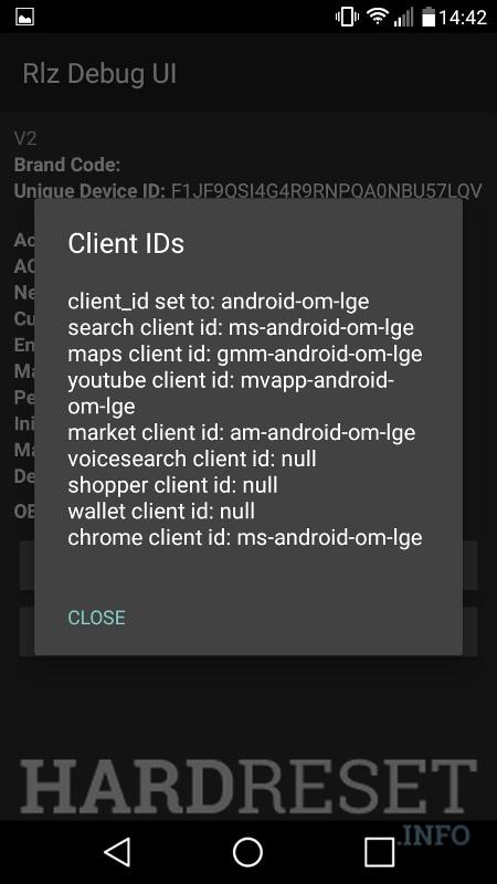 Codes LG Aristo MS210 - HardReset info