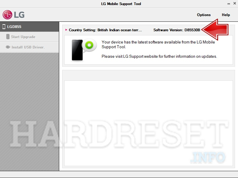 LG firmware version detect