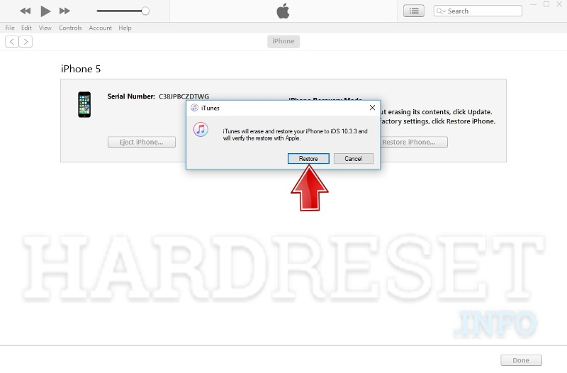How update firmware in iphone by itunes