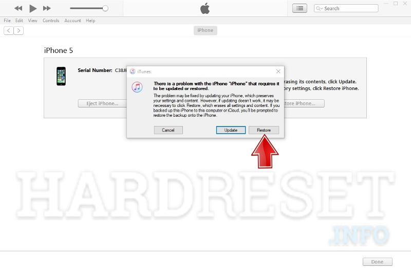 itunes iphone detected in recovery mode
