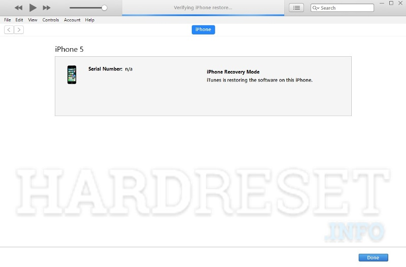 itunes restoring firmware in iphone