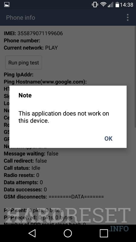Codes LG Grace LTE L59BL - HardReset info