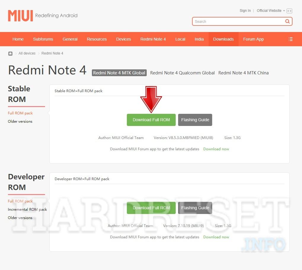 How Update Firmware in XIAOMI Redmi 3S Prime - HardReset info