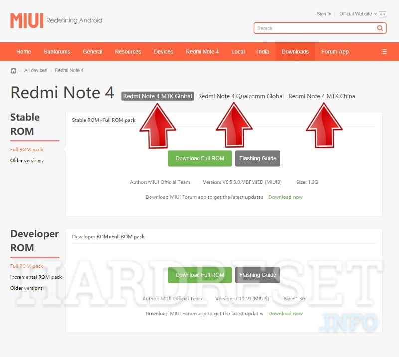 miui page firmware select