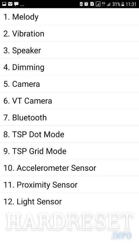 Codes SAMSUNG G920F Galaxy S6 - HardReset info