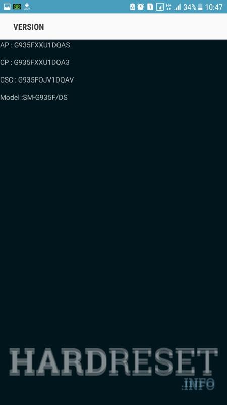 Codes SAMSUNG G925F Galaxy S6 Edge - HardReset info