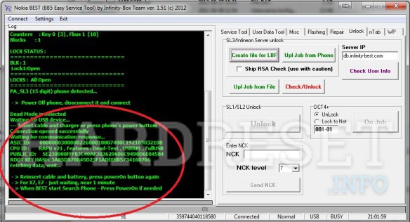BruteForce How to unlock NOKIA E63 by reading HASH file from