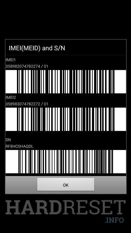 Codes SAMSUNG J500F Galaxy J5 - HardReset info