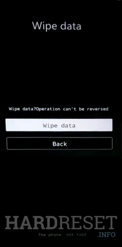 Wipe data on VIVO X20