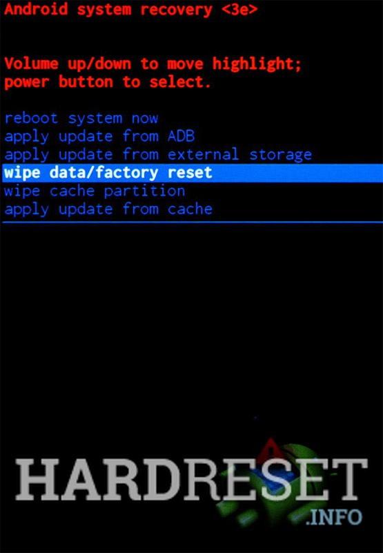 Wipe data ZTE Axon A2018