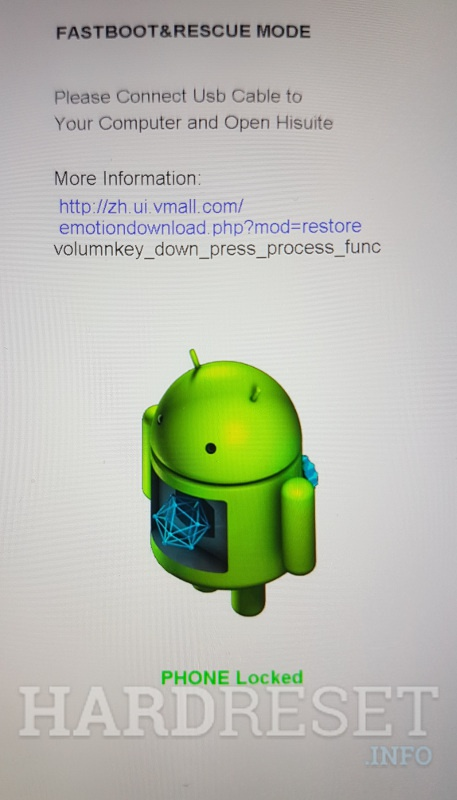 Fastboot mode in Huawei phone
