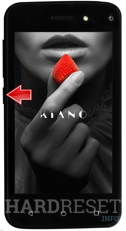 Kiano elegance 4.0 power button