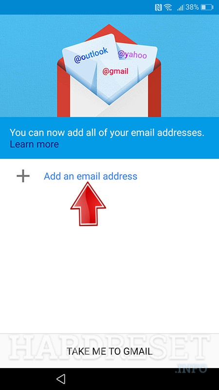 gmail app enter add emial address