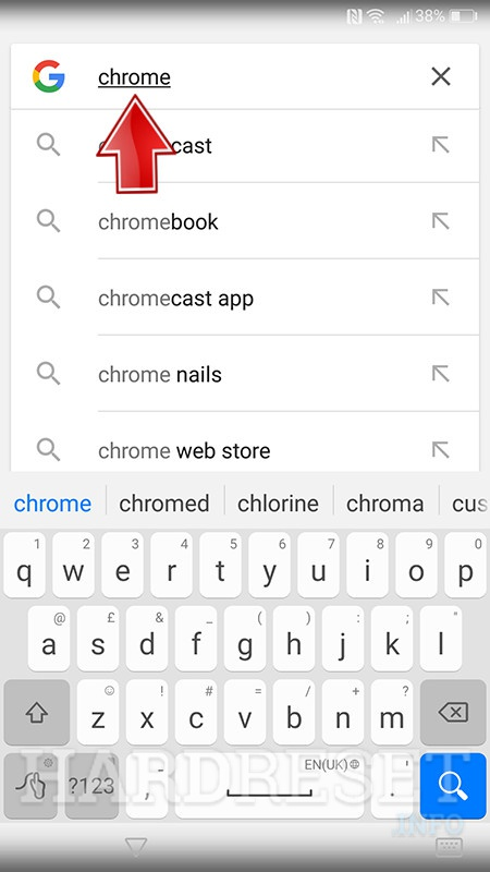google seach enter chrome in search filed