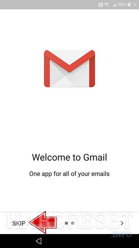 gmail app turning on with first time run creator