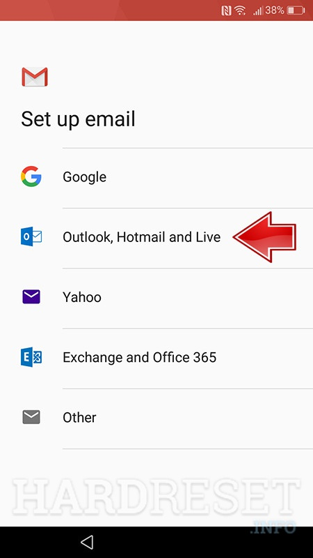 gmail app adding new emial account